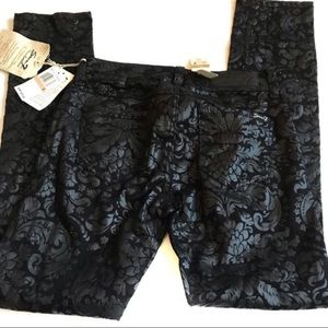 NWT seven7 black baroque skinny jeans